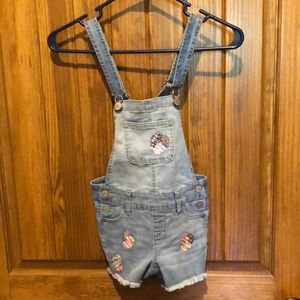 Justice shirt overalls